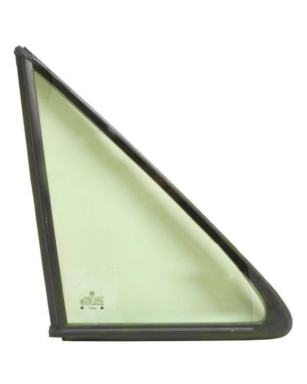 Scheibe, Grün, für festes Dreiecksfenster, mit glatter Dichtung, vorne rechts
