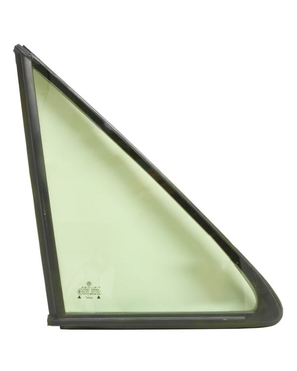 Front Door Quarter Light with Plain Seal, Green Tinted, Right