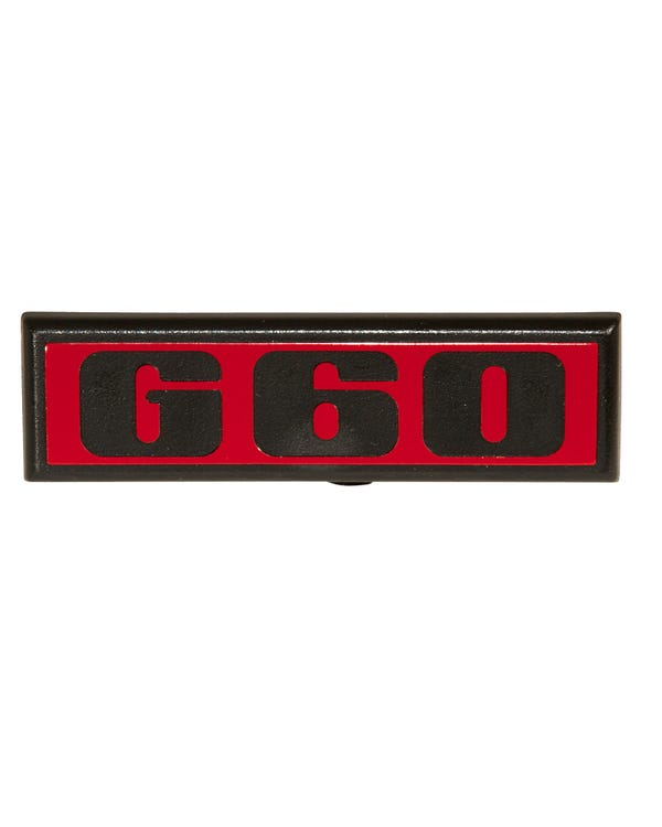Rear G60 Badge Black and Red