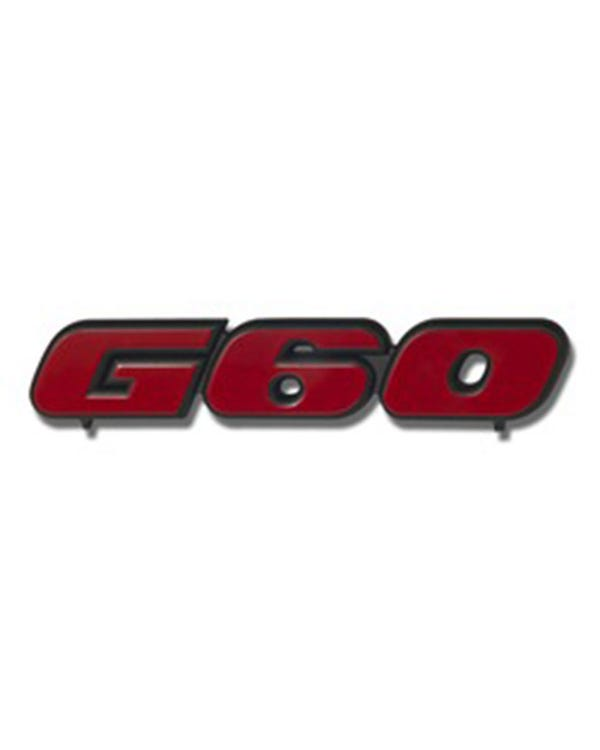 G60 Front Grille Badge Red and Black