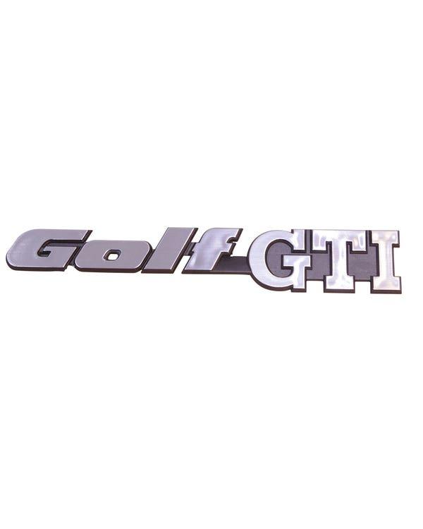Emblem, hinten, Golf GTI