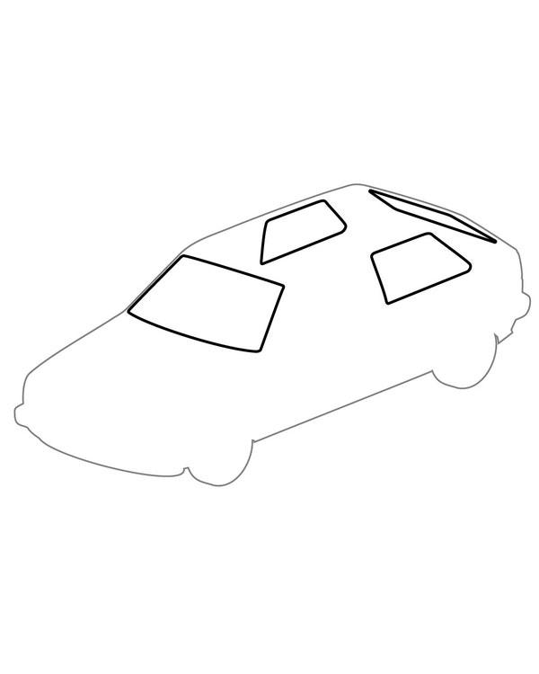 Window Seal Kit, Plain 3 Door