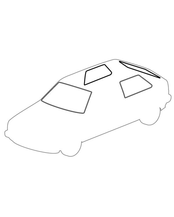 Window Seal Kit for Chrome Trim 3 Door