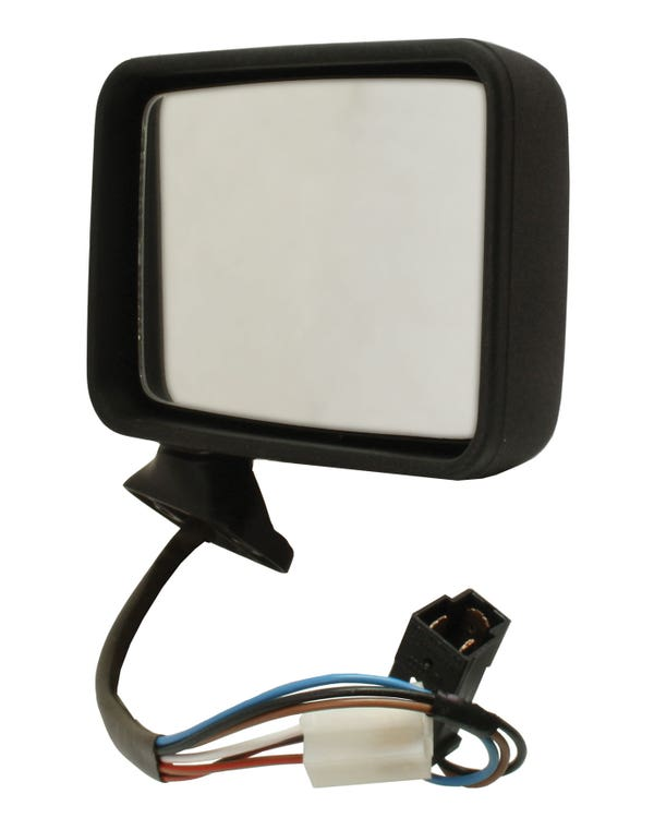 Door Mirror for Right Hand Drive with Electric Adjustment and Heated Flat Mirror Left