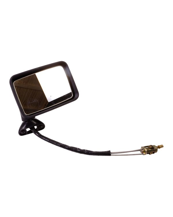 Door Mirror for Right Hand Drive with Manual Adjustment and Convex Mirror Right