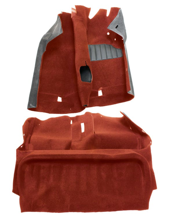 Carpet Set Red for 3 Door Right Hand Drive