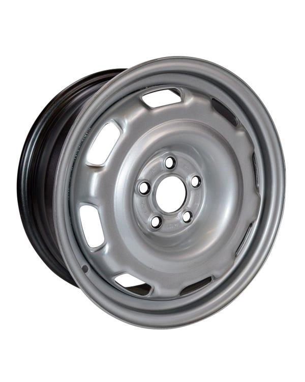 "Steel Wheel GTI, VR6, 6.5x15"", 5/100 PCD, 5.44"" BS"
