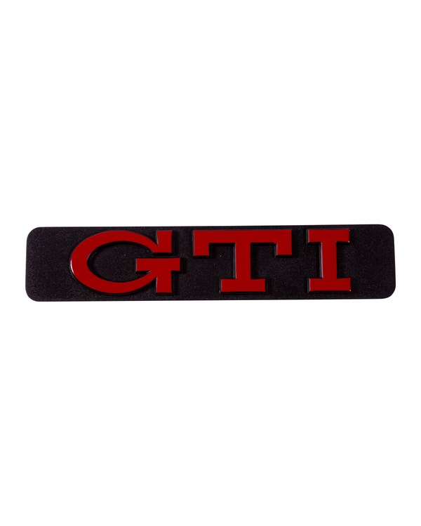 Anagrama GTI moldura lateral. Rojo