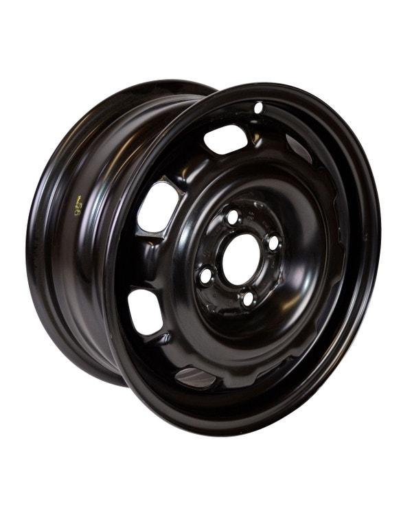 """14'' Steel Wheel in Rallye Black 6Jx14"""" ET45 4x100"""
