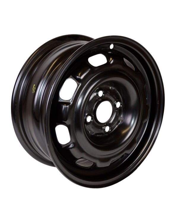 "14'' Steel Wheel in Rallye Black 6Jx14"" ET45 4x100"