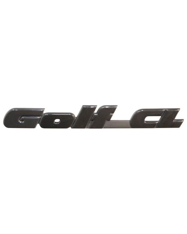 Rear Badge - Golf GL Script in Black