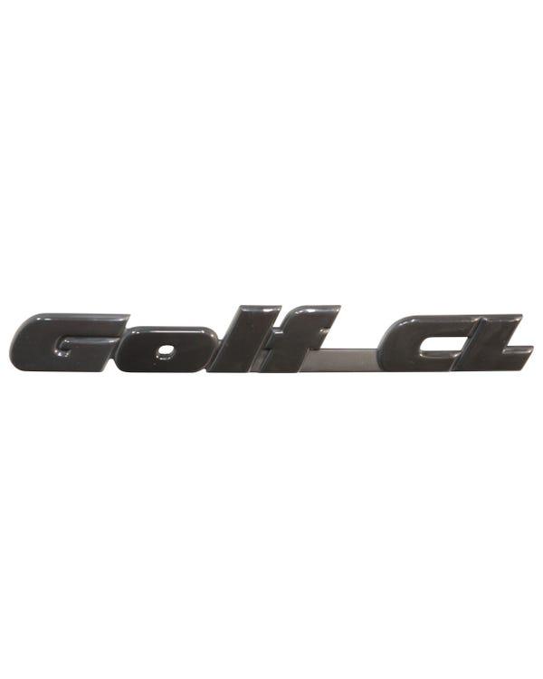 Insignia trasera - Golf GL en negro