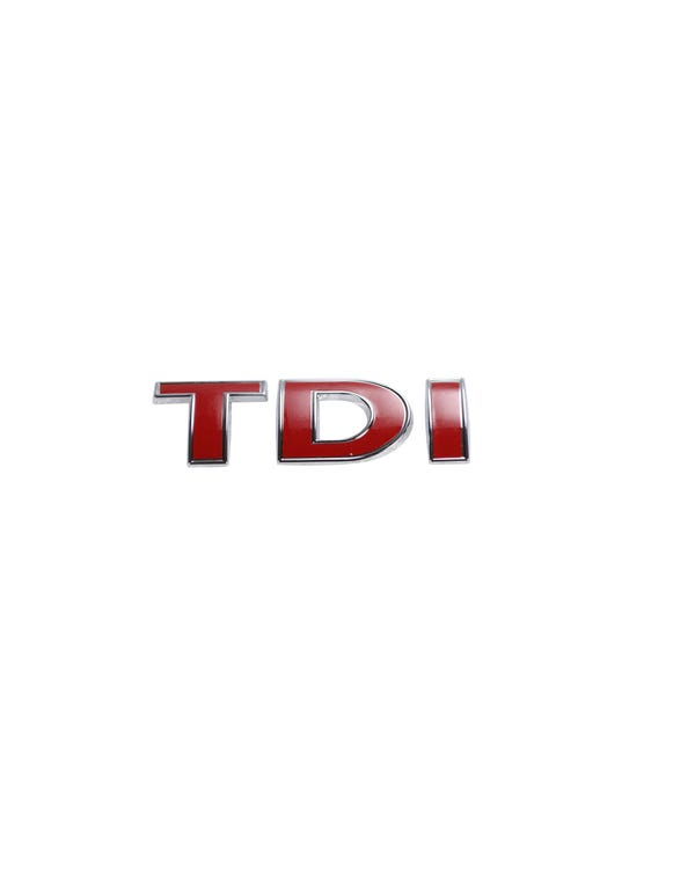 TDI-Emblem, hinten, rot
