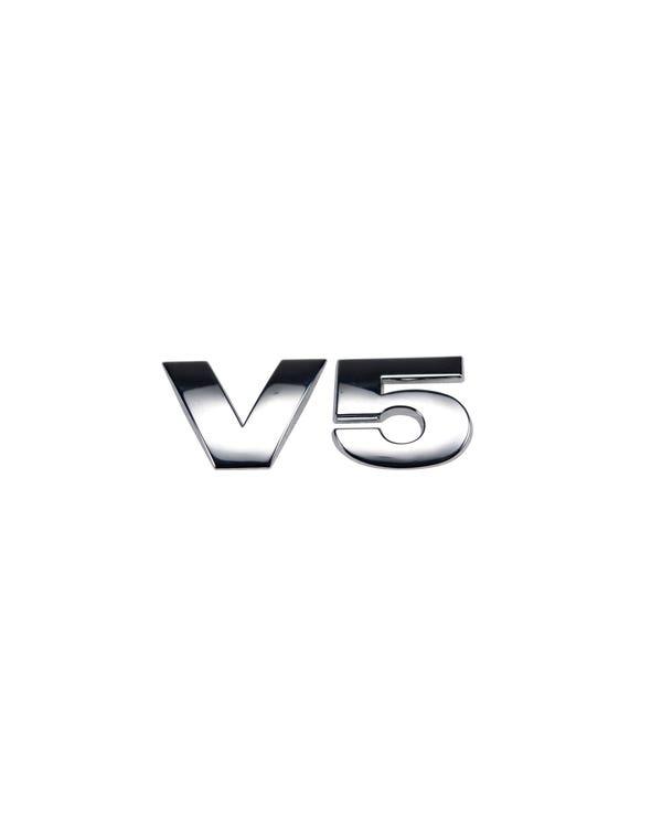 Rear V5 Badge in Chrome