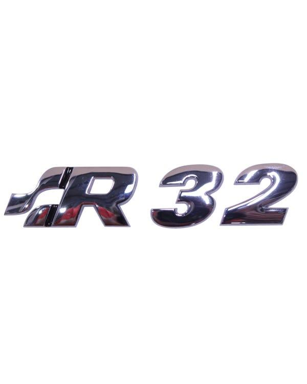 R32-Emblem, hinten