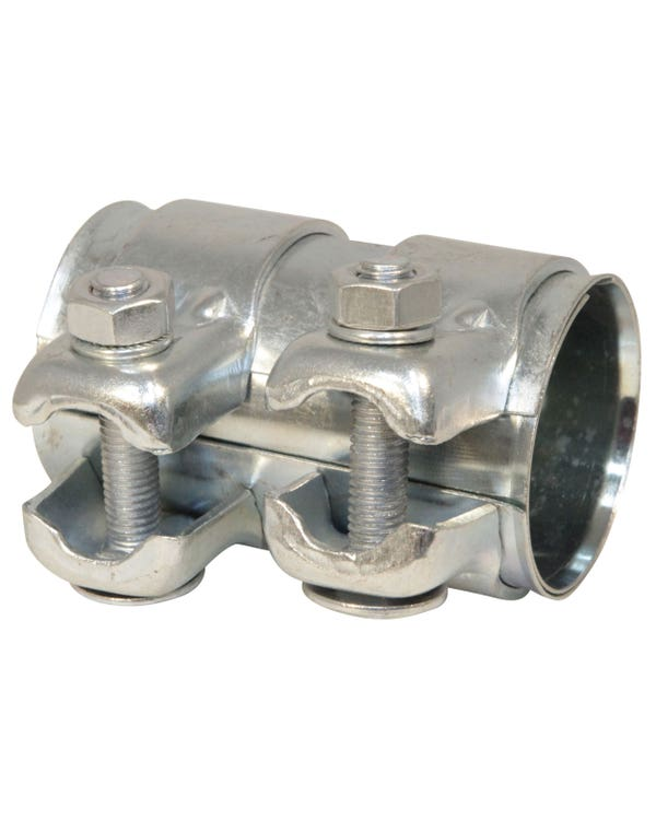 Dual Clip Exhaust Connecting Pipe 50mm