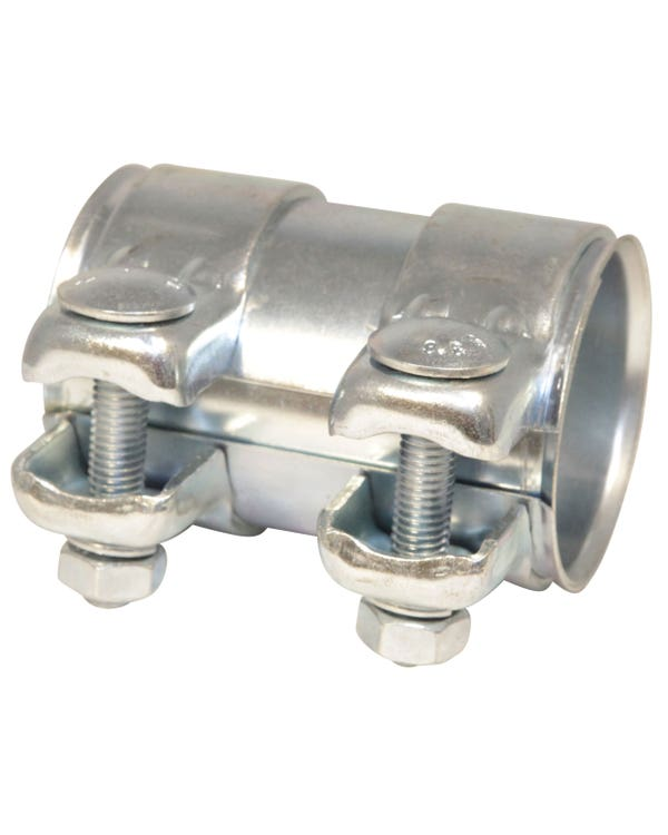 Dual Clamp Exhaust Connecting Pipe 55mm