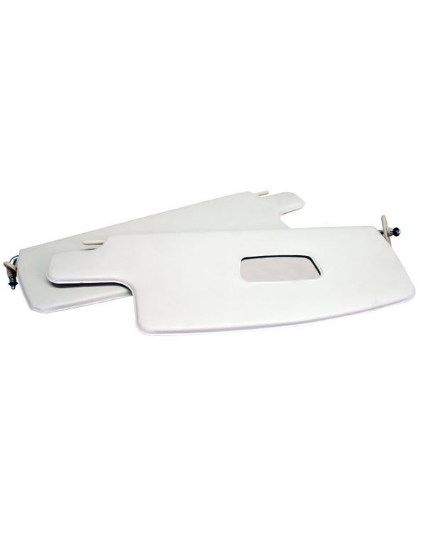 Sun Visors in Off White with a Right Hand Mirror