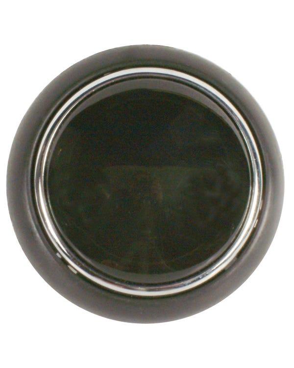 Hupendruckknopf, schwarz mit Chrom-Umrandung