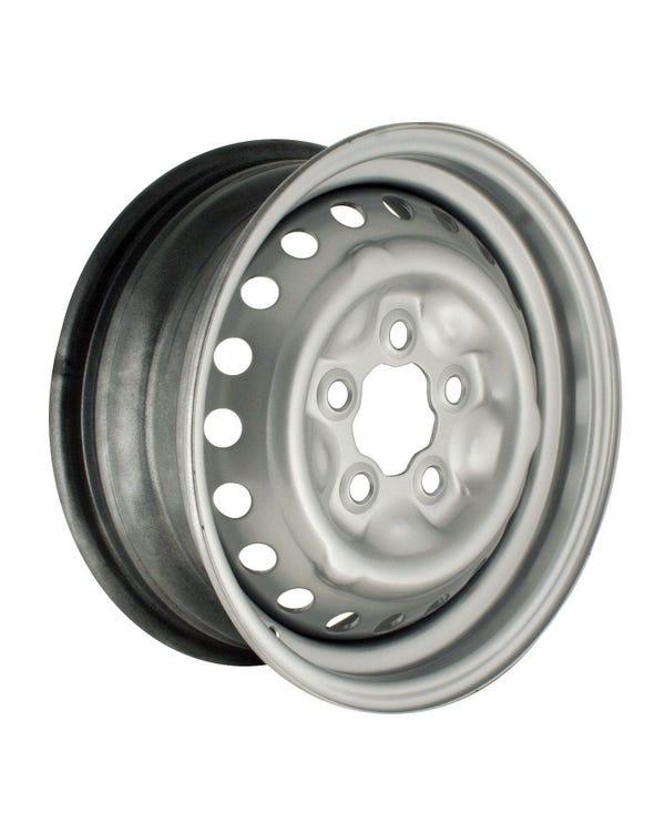 """Silver Steel Wheel 5.5x14"""", 5/112 PCD, ET39"""