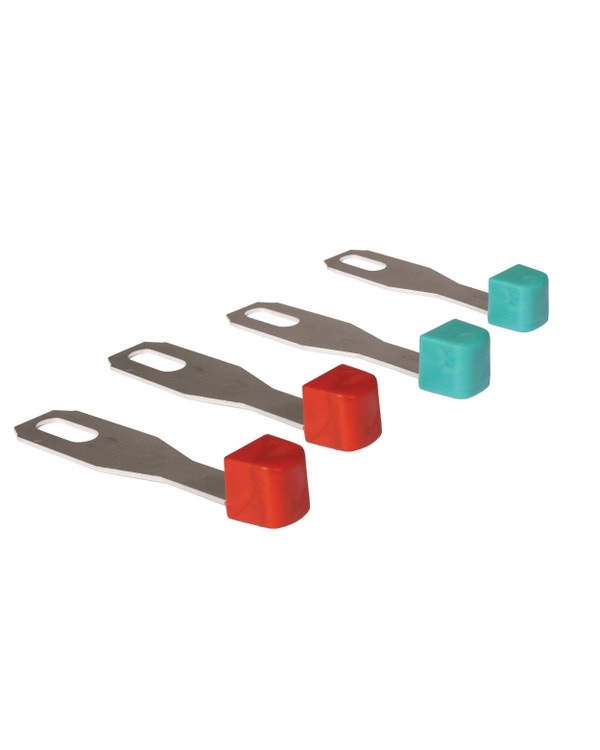 Heater Lever Set x2 Red and x2 Blue