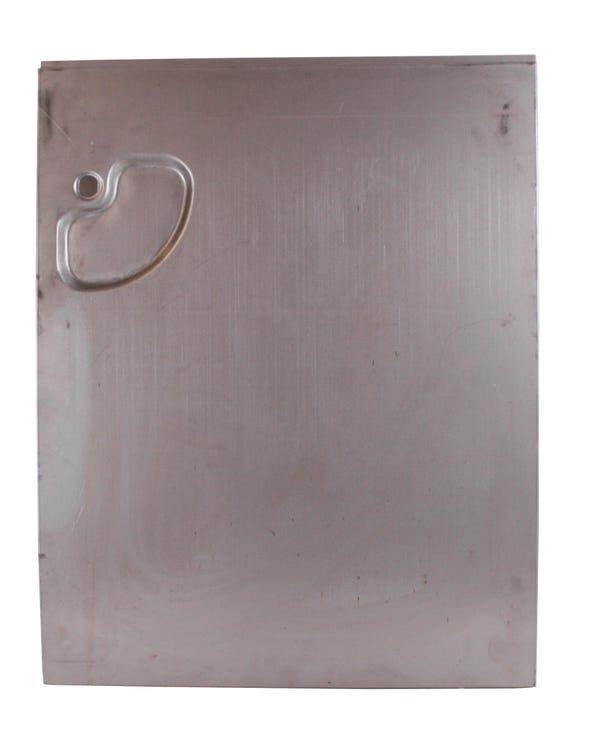 Panel de puerta exterior de puerta de carga derecha con receso para manilla hasta línea Swage