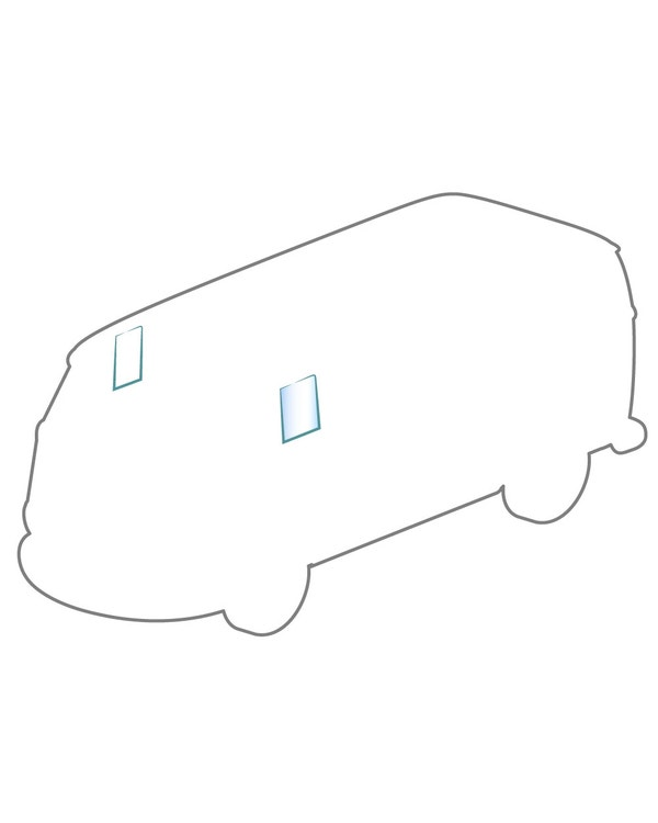 Türscheibe fest in Kabinentür VW Bus T1 ´55 -´67