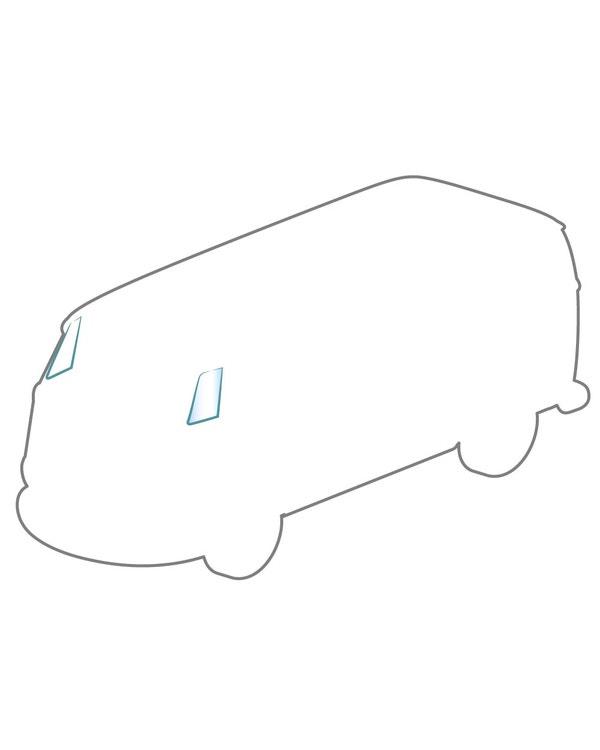 Glas für Dreiecksfenster in Kabinentür VW Bus T1 ´55 -´67