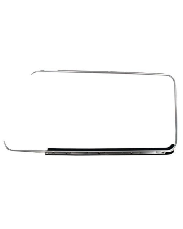 Outer Window Aluminum Trim with Scraper Left