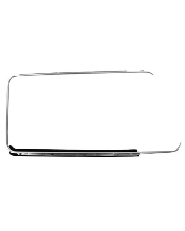 Outer Window Aluminum Trim with Scraper Right