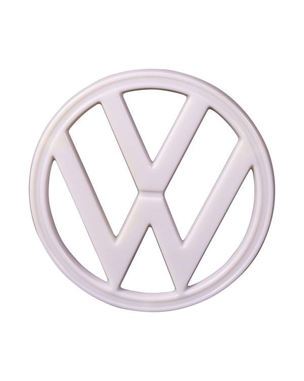 VW-Emblem, vorne, weiß, Kunststoff
