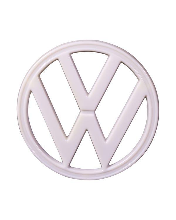 Front VW Emblem White Plastic