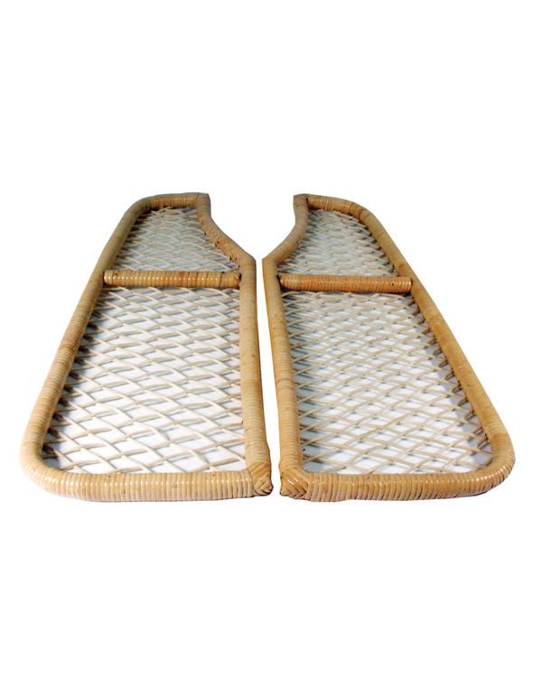 Ablage unter Armaturenbrett aus ''Bambus'' natur, Paar
