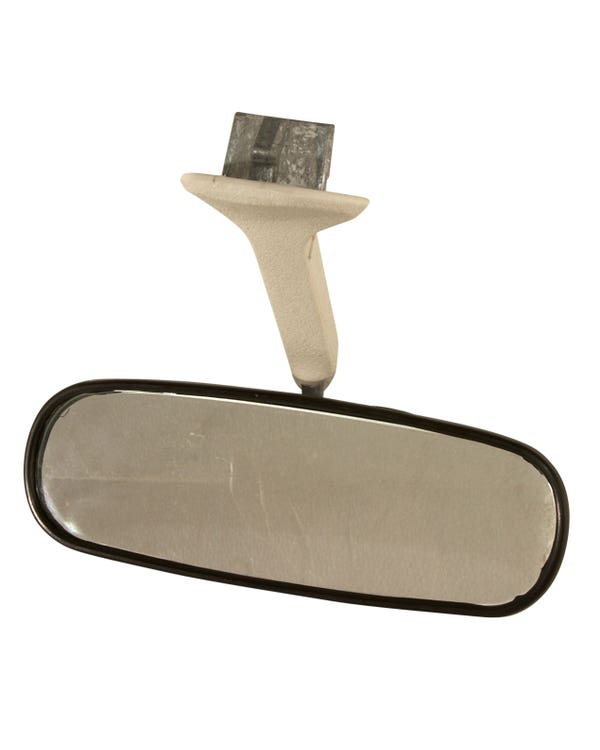 Interior Rear View Mirror with White Stem