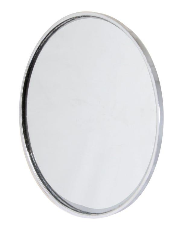 Kopf, Außenspiegel, links oder rechts, verchromt, Kunststoff