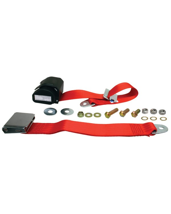 Rear Seat Belt 3 Point Inertia with Chrome Buckle and Webbing