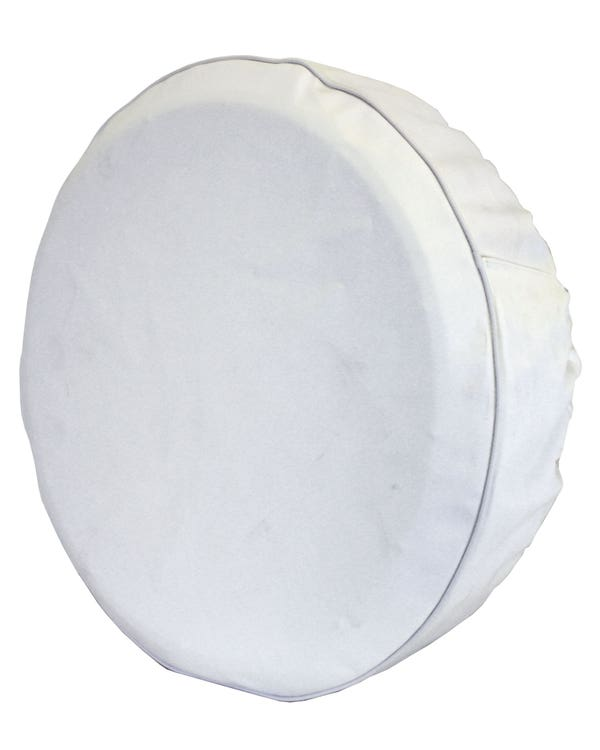 Spare Wheel Cover White with  Black Piping