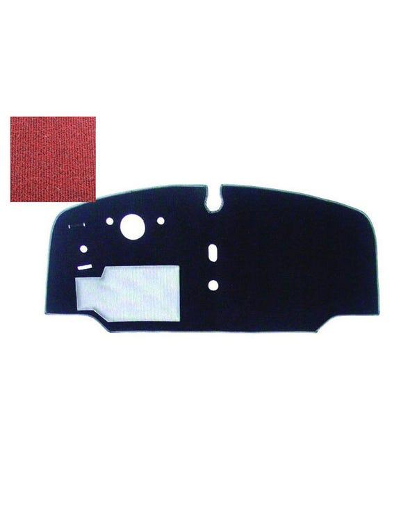 Teppich für Fußraum VW Bus T2a 8/68-7/72 Schlinge rot