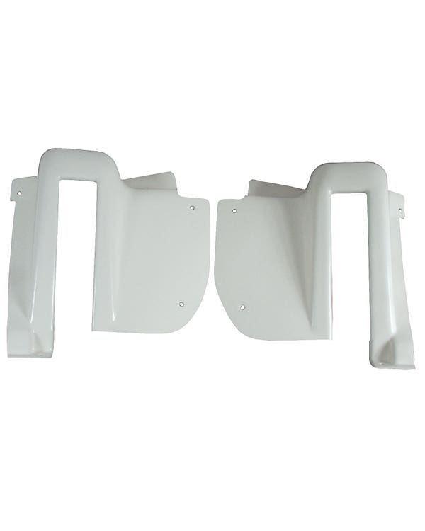 Rear Hatch Hinge Covers, White, Pair