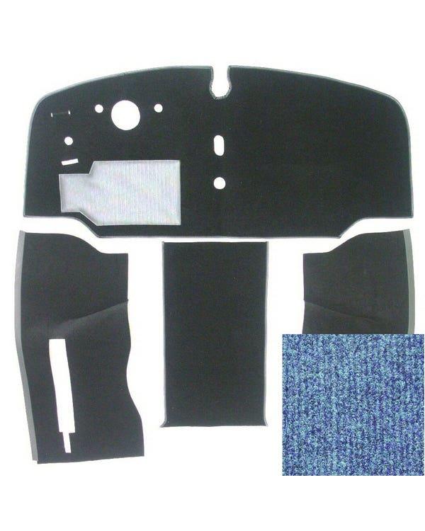 Carpet Set for Left Hand Drive Blue