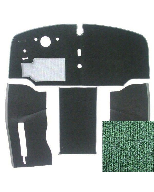 Carpet Set for Left Hand Drive Green