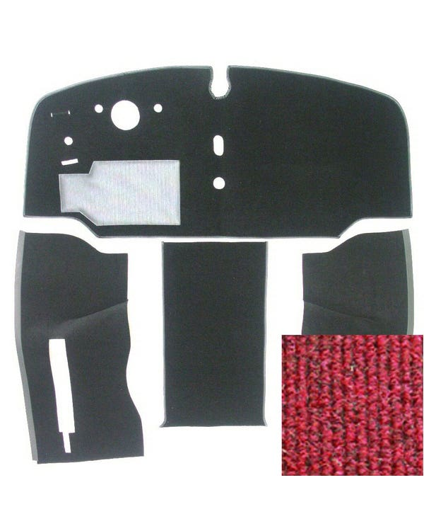 Carpet Set for Left Hand Drive Red