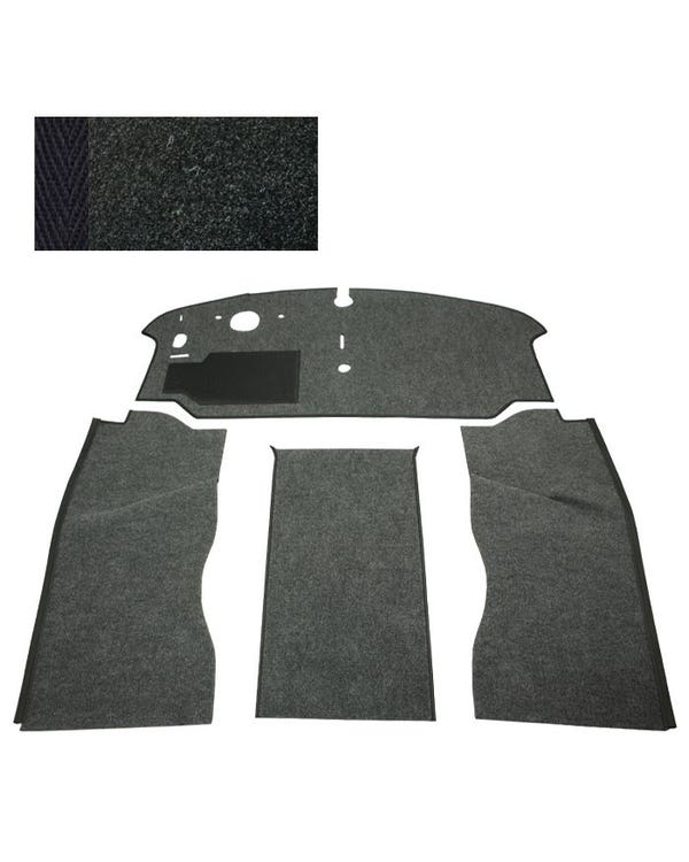 Carpet Set for Left Hand Drive Black