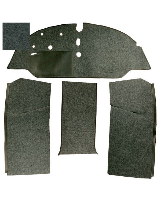 Carpet Set for Left Hand Drive Walk Through Black