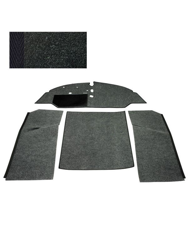 Carpet Set for Left Hand Drive Bench Black