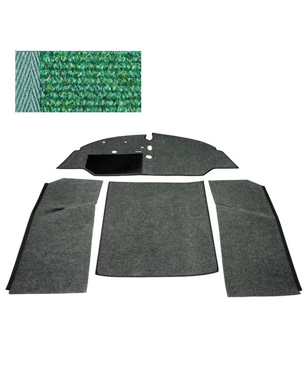 Carpet Set for Left Hand Drive Bench Green