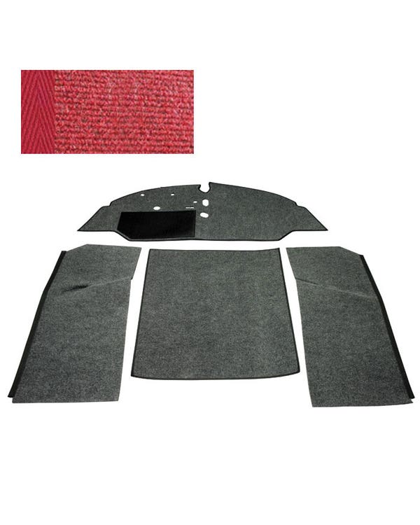 Carpet Set for Left Hand Drive Bench Red