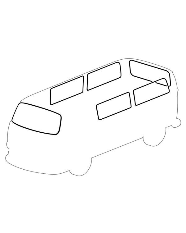 Kit Gomas. Lunas delantera, trasera y 4 ventanas laterales.