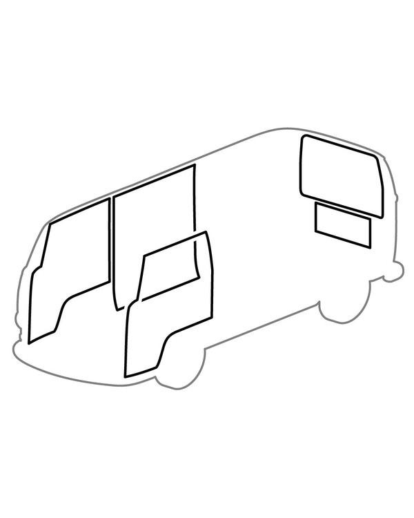 Kit de Juntas, Puertas, Carga, Motor, 5 Piezas, T2 68-71, Reproducción