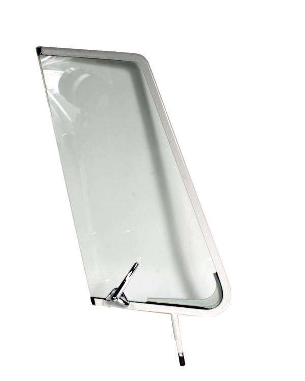 Left Opening Quarter Light White with Chrome Catch